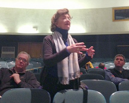 Nellie Coakley asks what the effect of a merger will be on students. Photo: Sarah Harris