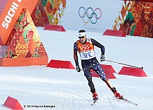USA's Billy Demong, #31, competes in the Sochi Olympics Nordic Combined Normal Hill/10km 2/12/14. Photo: © Nancie Battaglia