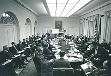 Black leaders met with Richard Nixon in the Cabinet Room at the White House in 1971 and urged him to escalate America's drug war at home and overseas.  Photo: Nixontapes.org