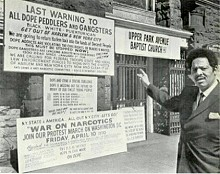 This isn't the first time New York state ha grappled with heroin addiction.  In the 1970s, the  Rev. Oberia Dempsey campaigned against drugs in Harlem. Photo: Wikipedia