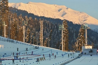 Olympic biathlon stadium in Sochi.  Photo: Chris Knight from the Adirondack Daily Enterprise used with permission.