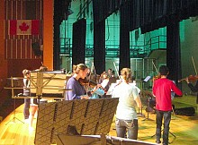 Members of Stellae Boreales rehearse at Woodroffe High in Ottawa. Photo:  Lucy Martin