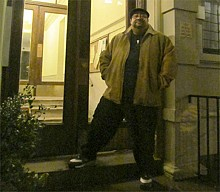 George Prendes, outside the apartment he lived in before he went to prison, on 107th Street and Central Park West. Photo: Natasha Haverty
