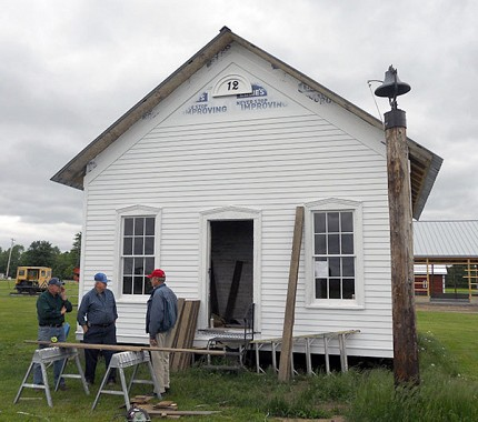 Museum volunteers will spend this summer cleaning and restoring the schoolhouse.  Photo: Todd Moe