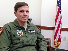 Colonel Greg Semmel commands the 174th Attack Wing. Photo: David Sommerstein.