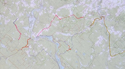 Photo of the trail system map. Photo: Claire Woodcock