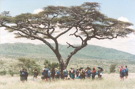 Students travel to Tanzania in spring of 1998. Photo courtesy of KSP's 40th anniversary celebration