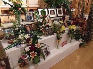 A memorial to victims inside St. Agnes Church in Lac-Megantic.  Photo:  Brian Mann