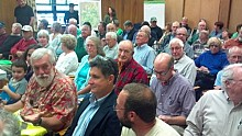 Public hearings on the future of the rail corridor were held last fall.   Photo: Brian Mann