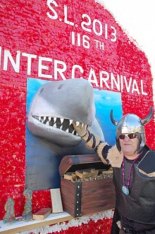 The vikings make an appearance in every Winter Carnival parade, but they were particularly well suited to this year's theme.  (Photo: Karen Davidson)