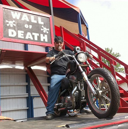Patch McGillicutty rides the Wall of Death. Photo: Zach Hirsch