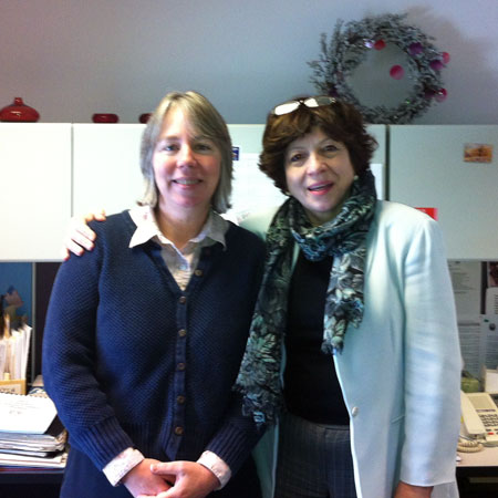 Betsy Brooks (left) and Eva Jankowska of the Clinton-Essex-Franklin Library System