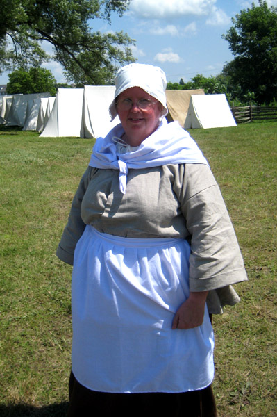 Cathy Airy portrays a French peasant woman