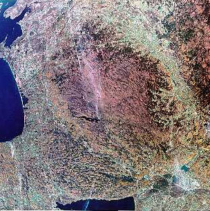 The Tug Hill Plateau by satellite [credit: Tug Hill Commission]