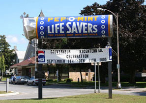 Lifesaver monument. Photo coutesy of the Gouverneur Chamber of Commerce