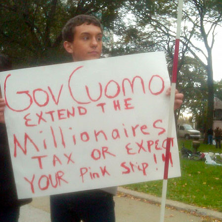 Occupy Albany protestor in early November. Photo: Karen DeWitt