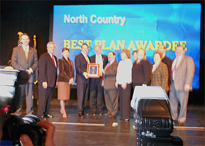 The North Country REDC's award, announced December 8, 2011, was the second-largest in the state.