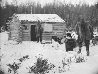 Furs traveled from the north via sled and bateau. Photos courtesy of the Hudson's Bay Company Archives