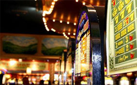 "Video gaming machines plus racetrack equals ""racino."" Photo: Inovation Trail, courtesy of Tioga Downs"