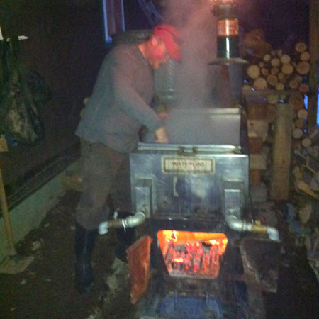 Brett McLeod over the evaporator
