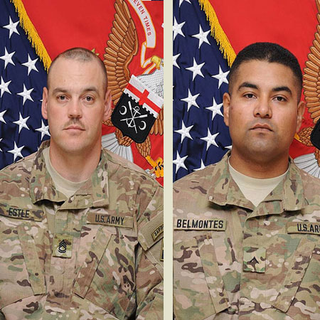 Sergeant First Class Bobby L. Estle (left) and Private First Class Jose O. Belmontes. Photos: courtesy Fort Drum Public Affairs
