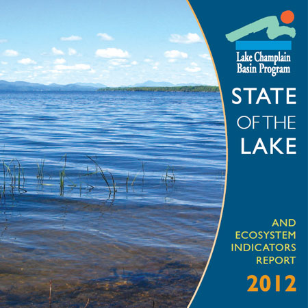 Cover detail: 2012 State of the Lake Report from the Lake Champlain Basin Program