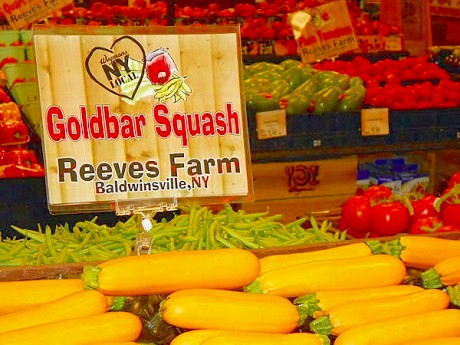 Special displays at Wegman's in Liverpool, N.Y., highlight local produce.