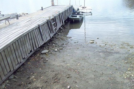 Low water near Oak Point on the St. Lawrence River. Photo: Bill Merna, from NCPR Photo of the Day archives