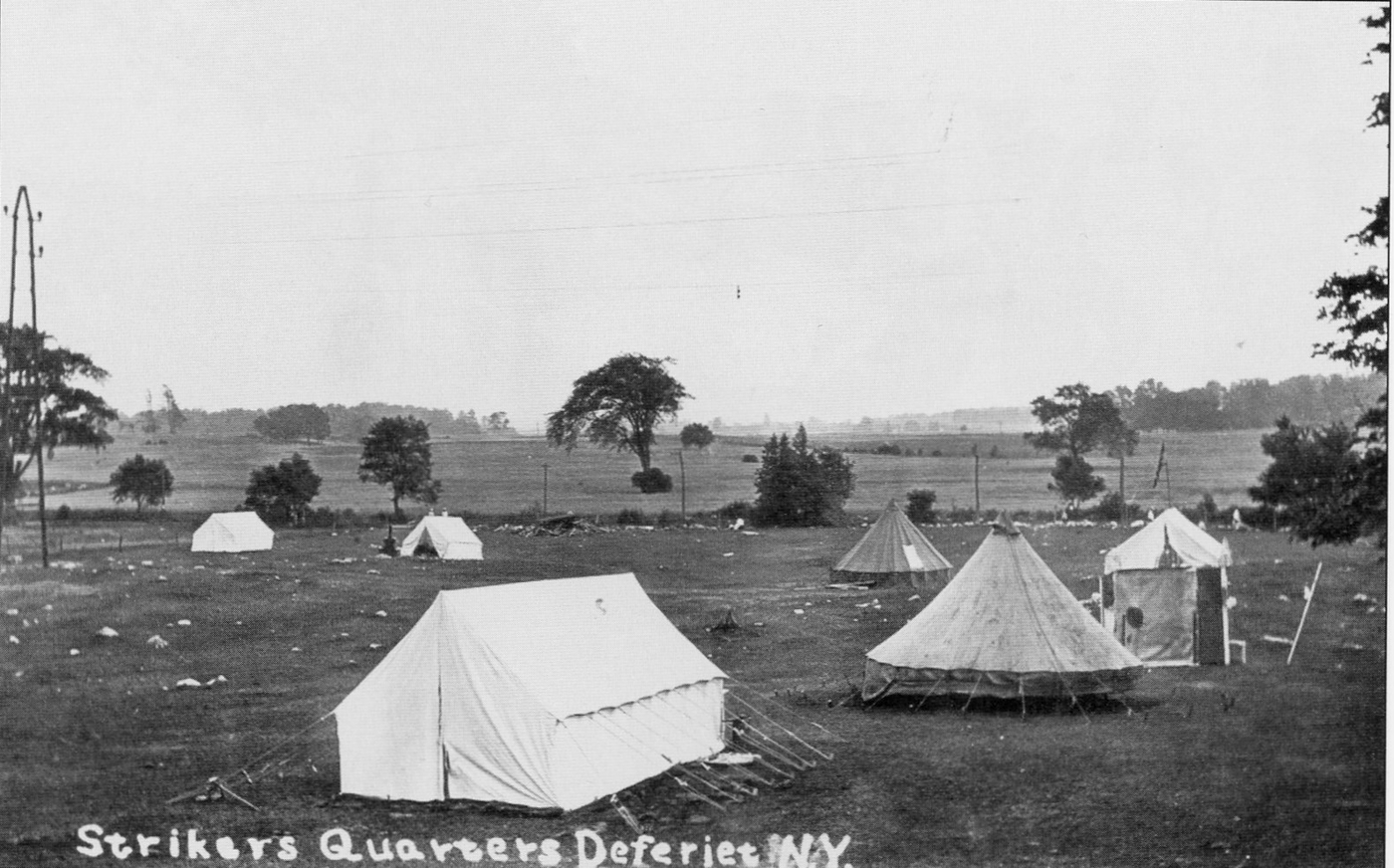 Tent City  set up for strikers who couldnu0027t find other accommodation c. 1915. & North Country on Strike: a paper company town goes union | NCPR News
