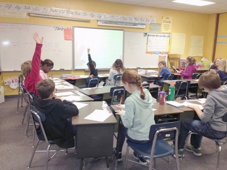 5th grade math at Canton Central School. NCPR file photo: Sarah Harris