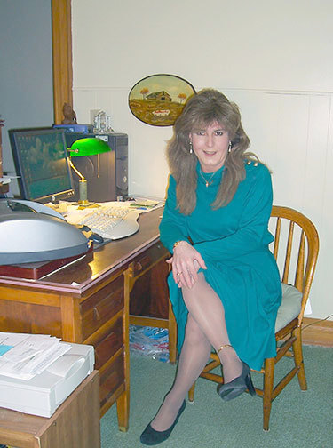 Kelly at her home in Saranac Lake. Photo: Kelly Metzgar.