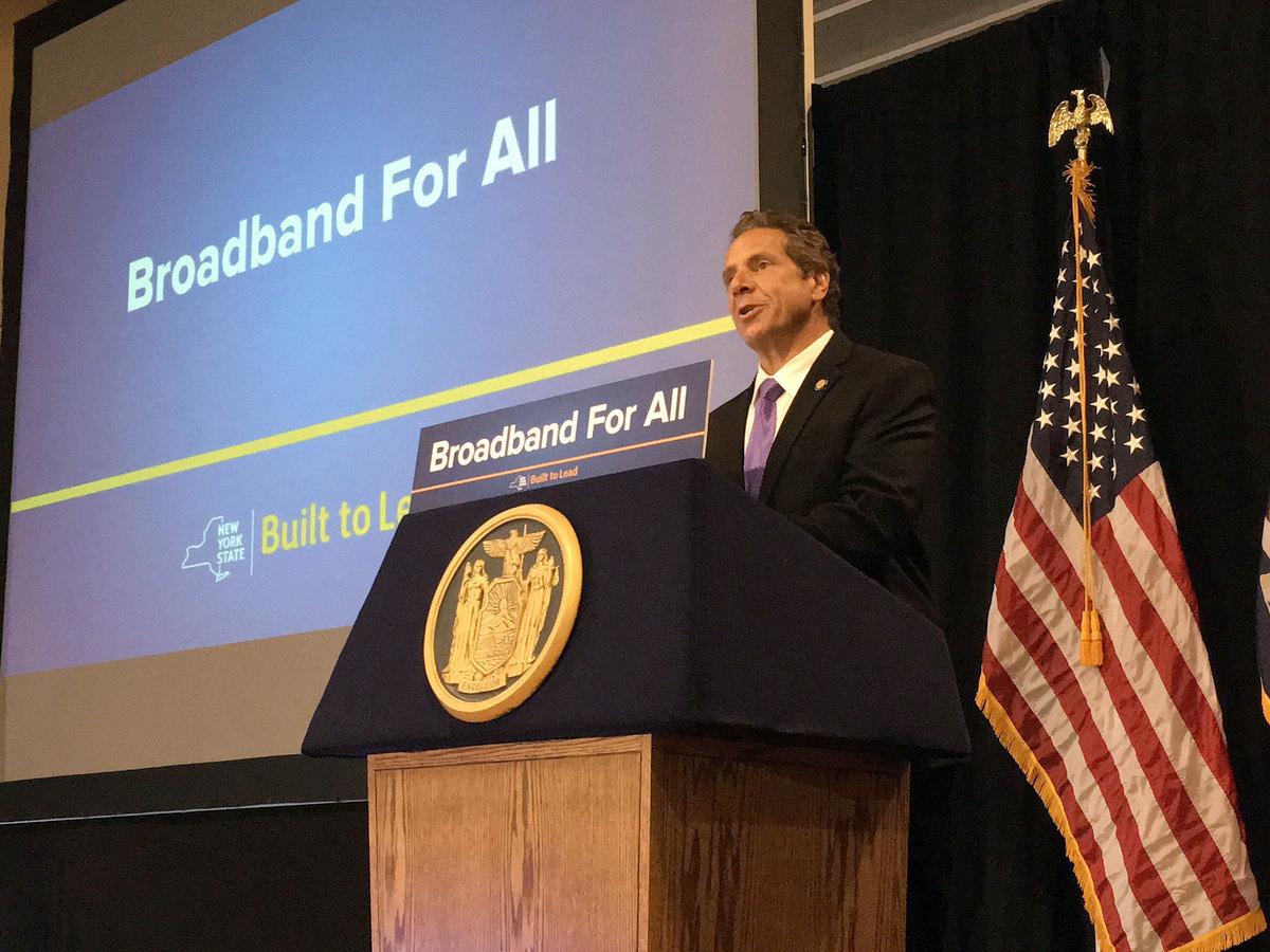 Cuomo defends economic record, touts universal broadband in Potsdam   NCPR News