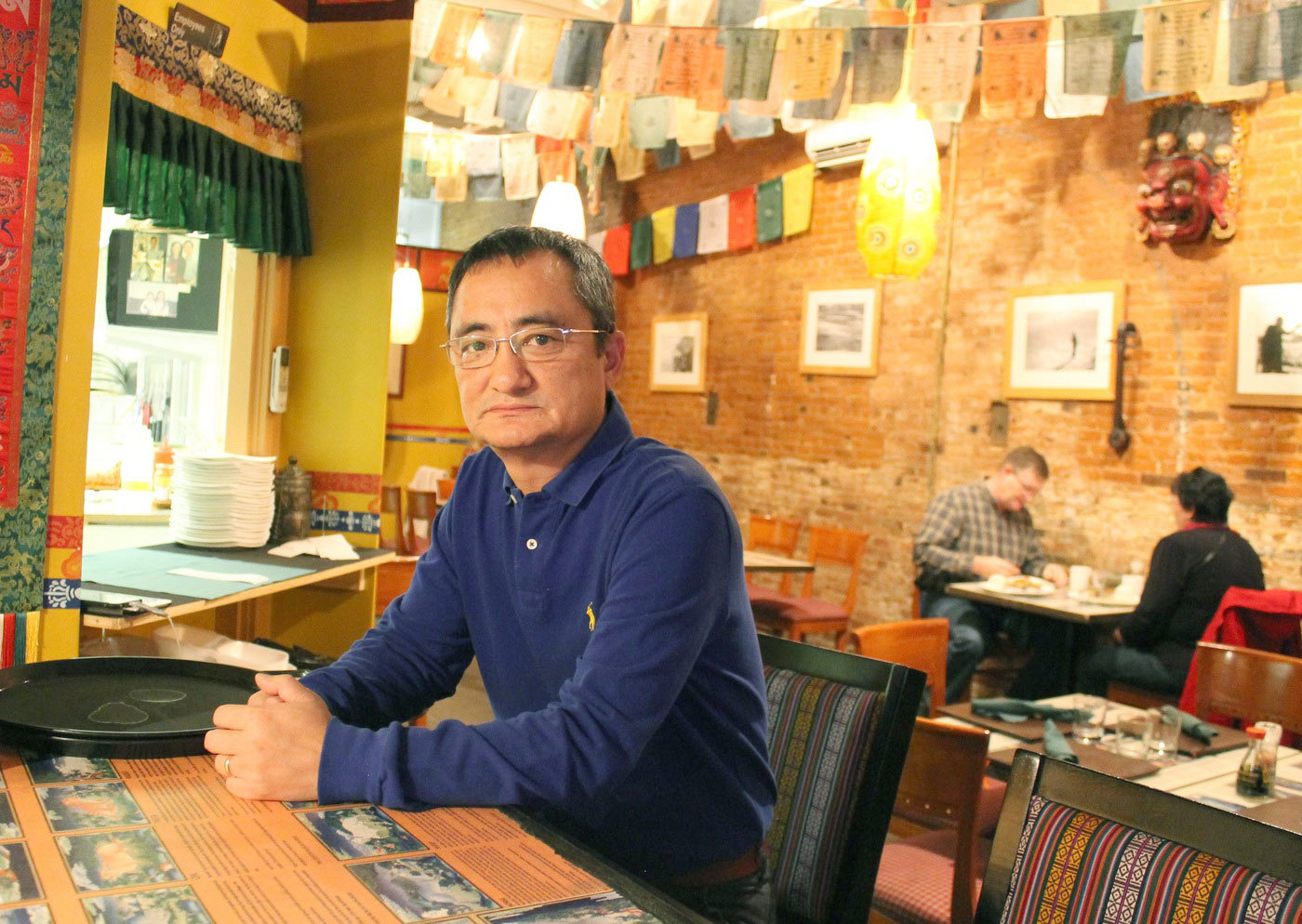 Tenzin Dorjee in his restaurant