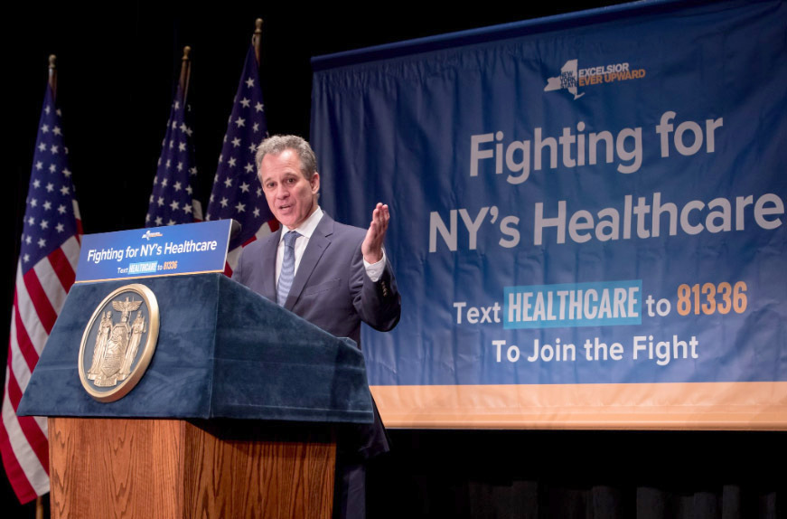 New York AG threatens lawsuit prior to healthcare bill failure
