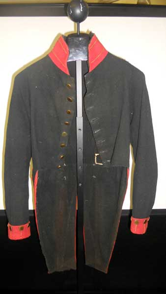 Shubel Clark's War of 1812 jacket at the Potsdam Museum.