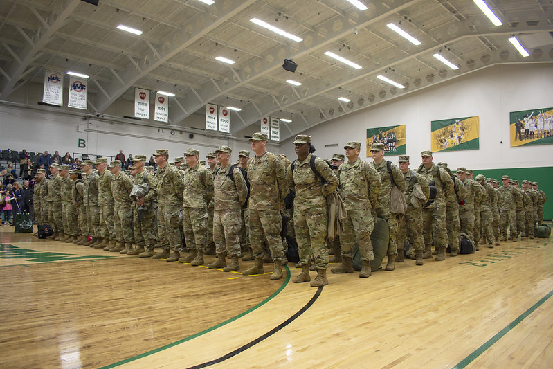North Country National Guard troops headed for Middle East   NCPR News