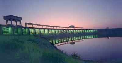 The Moses-Saunders hydropower dam on the St. Lawrence River near Massena. Photo: New York Power Authority
