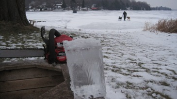 9 inches of good ice by December 30, 2010.