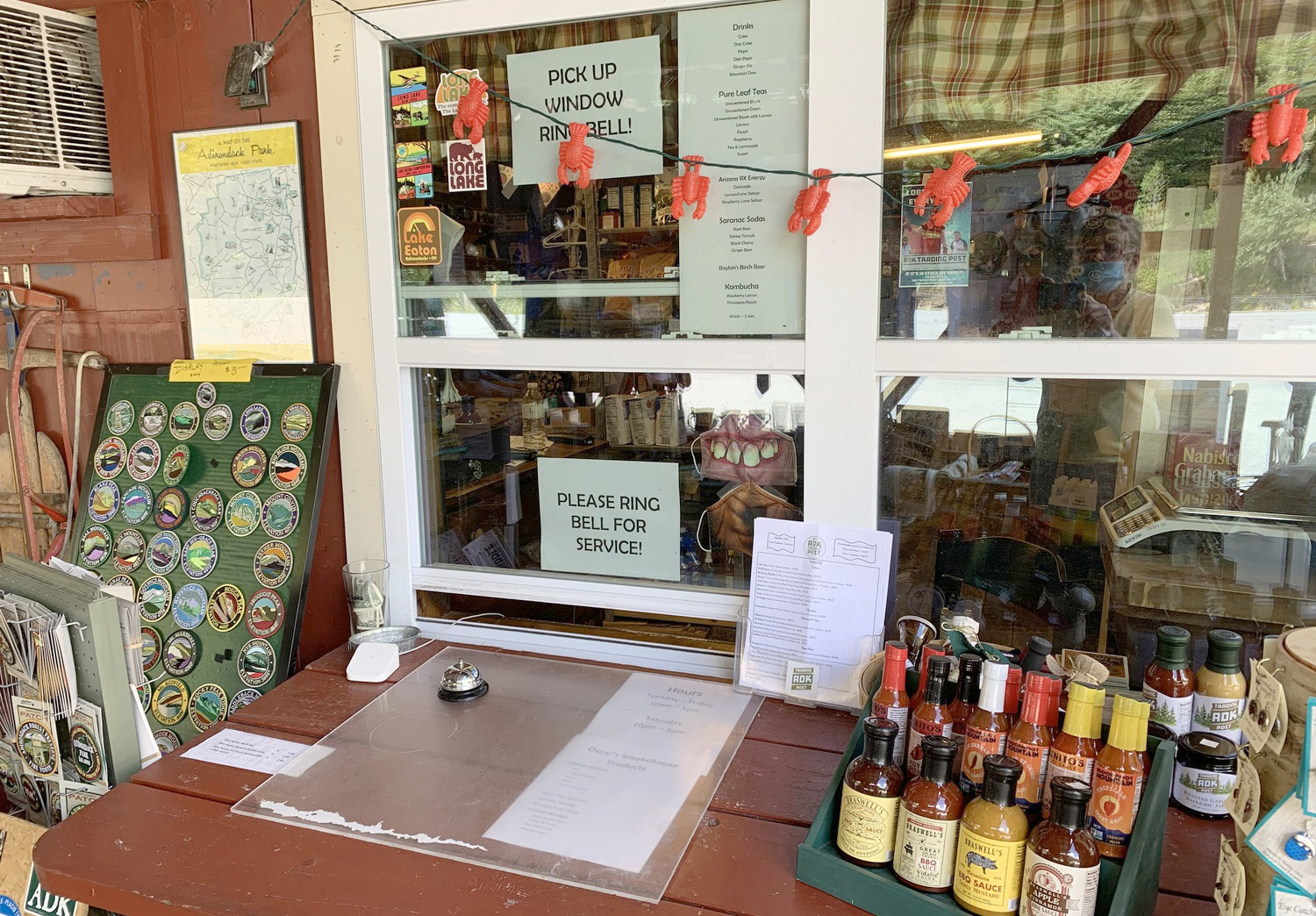 The pick-up window at the ADK Trading Post. Photo: courtesy Vickie Sandiford