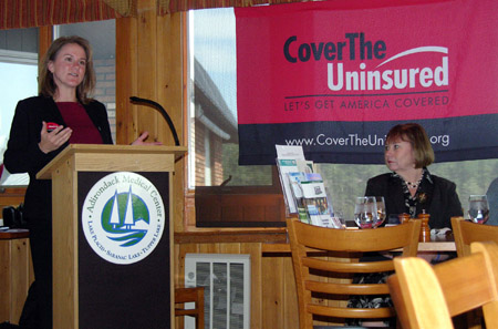 Ann Morgan announces effort to boost insurance rates in Tri-Lakes (Photo provided)