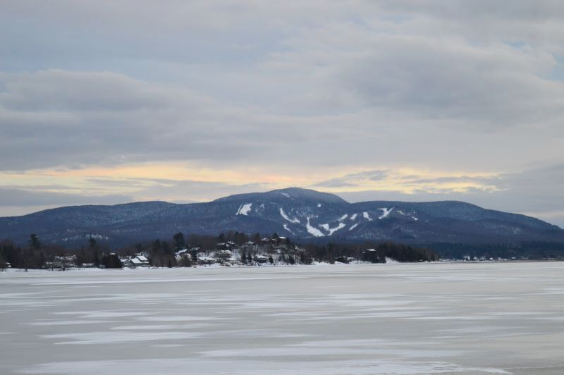 The slopes of the Big Tupper Ski Area on Mount Morris are seen from across Raquette Pond in Tupper Lake in 2018. (Photo -- Aaron Cerbone, Adirondack Daily Enterprise)
