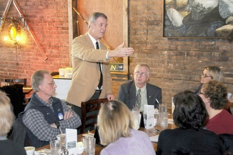 Rep. Bill Owens at the legislative luncheon in Saranac Lake. NCPR file photo: Mark Kurtz