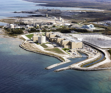 Bruce Power's nuclear power plant on Lake Huron