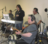 Members of Crosswinds during their UpNorth Music session