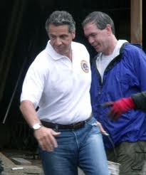 Gov. Andrew Cuomo was in Keene for flood recovery work on Labor Day weekend. (Photo: Brian Mann.)