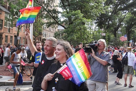Rally in New York City celebrating the Supreme Court's decision on the Defense of Marriage Act. Photo: Phil Davis NY, Creative Commons, some rights reserved
