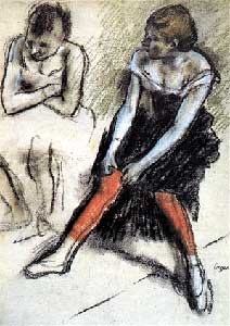 "Degas' ""Dancer with Red Stockings"""