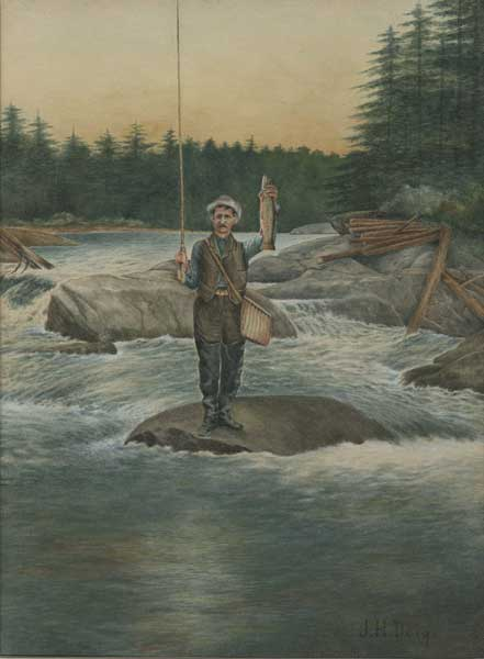 Jay Howard Doig's 1890 self portrait on the Moose River.