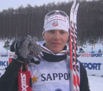 Vermontville's Bill Demong with his silver medal (Photo provided by Doug Haney/US Ski Team)