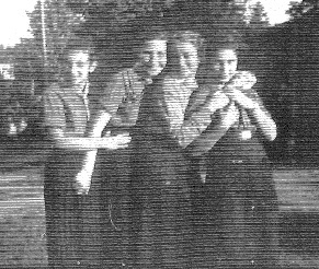 Photograph of Elisheva Elsa Binder (first from left) with friends.